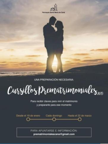 Cursillos prematrimoniales 2019-2020